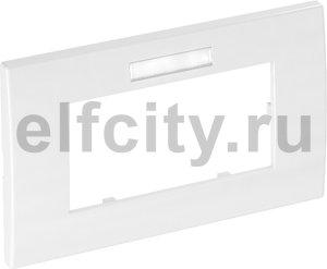 Рамка двойная Modul45 (с полем д/маркировки.,горизонт.,84x140 мм,белый)