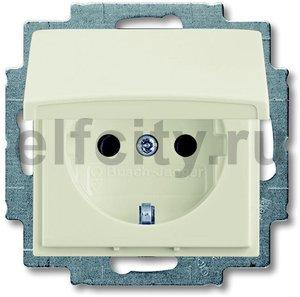 Розетка с заземляющими контактами 16 А / 250 В, с откидной крышкой, автоматические зажимы, шале-белый