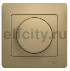 Диммер (светорегулятор) поворотный 60-300 Вт для ламп накаливания и галогенных 220В, титан