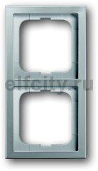 Рамка 2 поста, для горизонтального/вертикального монтажа, нержавеющая сталь