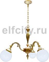 Люстра со стеклом - Milazzo I, цвет: золото, белая патина