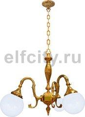 Люстра со стеклом - Milazzo II, цвет: светлое золото