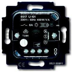 Механизм светорегулятора для ламп накаливания и НВ галогенных ламп с индуктивным трансформатором, с отдельным выходом выключателя, 60-400 Вт + 6А