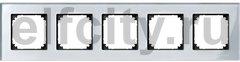 Рамка 5 постов, для горизонтального/ вертикального монтажа, стекло алмаз