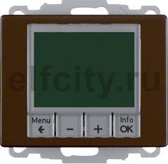 Термостат електронный программируемый, с выносным датчиком, для электрического подогрева пола 230 В~ 8А, пластик коричневый глянцевый