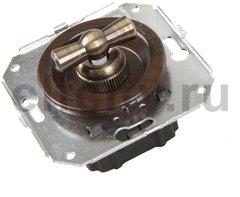 Выключатель поворотный 2-х позиционный для внутреннего монтажа проходной, венге