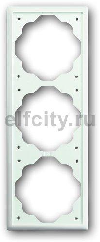 Рамка 3 поста, для горизонтального/вертикального монтажа, белый бархат