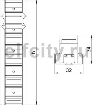 Соединитель профилей вертикальный (125 мм)