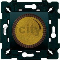 Диммер (светорегулятор) поворотный 40-500 Вт для ламп накаливания и галогенных 220В, бронза светлая/черный