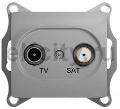 Розетка телевизионная оконечная TV/SAT , диапазон 1 DB, алюминий