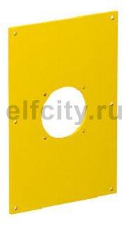 Накладка блока питания VH для монтажа устройств, 160x105x3 мм (ПВХ,желтый)