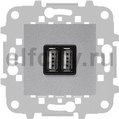 Зарядное USB устройство на два выхода, 2х750 мА / 1х1500 мА, серебристый