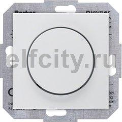 Диммер (светорегулятор) поворотный 60-400 Вт для ламп накаливания и галогенных 220В, пластик белый матовый