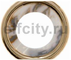 Рамка средняя, горизонтальный/вертикальный монтаж, пластик под белый мрамор/золото 24 карата