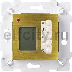 Термостат для электрического подогрева пола 230 В~ 16А , с датчиком температуры воздуха и пола, бронза светлая/белый
