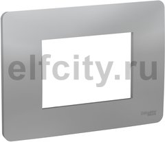 UNICA MODULAR рамка 3-модульная, алюминий