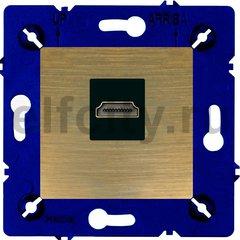 Розетка HDMI, для серии Marco, бронза матовая/чорный