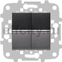 Выключатель двухклавишный, 10 А / 250 В, антрацит