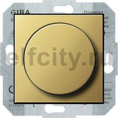 Диммер (светорегулятор) поворотный 60-400 Вт для ламп накаливания и галогенных 220В, латунь