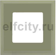 Рамка 1 пост, green olive