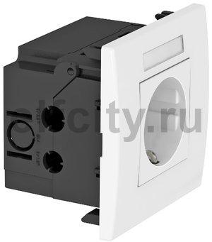 Укомплектованный розеточный блок AR45 (марк.,1xModul45,84x84x59 мм,белый)