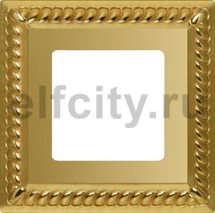 FD01231OB Рамка на 1 пост, цвет bright gold