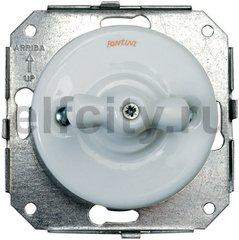 Выключатель поворотный для управления жалюзи, 10 А / 250 В, фарфор белый