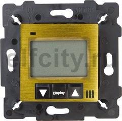 FD18000PB-M Терморегулятор Цифровой. 16A, с LCD монитором. Кабель 4м. в комплекте, bright patina