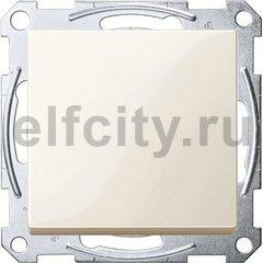 Выключатель одноклавишный, 10 А / 250 В, пластик кремовый глянцевый