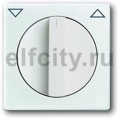 Плата центральная с поворотной ручкой, с маркировкой, для механизма выключателя жалюзи 2712/2713 U и 2722/2723 U, серия solo/future, цвет davos/альпийский белый