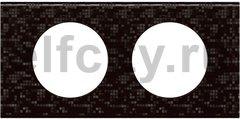 Рамка 2 поста, для горизонтального/вертикального монтажа, блэк пиксел