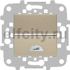 Диммер (светорегулятор) клавишный 40-400 Вт для ламп накаливания и галогенных 220В, шампань