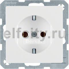 Розетка с заземляющими контактами 16 А / 250 В, автоматические зажимы, полярная белизна, с эффектом бархата