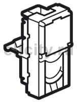 Розетка телефонная одинарная RJ11, 1-н модуль, белый