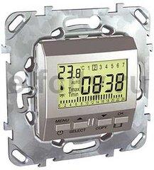 Термостат недельный программируемый, с выносным датчиком для электрического подогрева пола 230 В~ 8А, пластик под алюминий