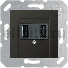 Зарядное USB устройство на два выхода , 2х750 мА / 1х1500 мА, антрацит
