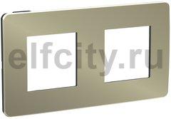 Рамка 2 поста, для горизонтального/вертикального монтажа, бронза/антрацит