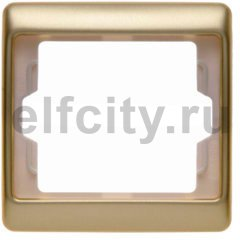 Рамка 1 пост, металл под золото