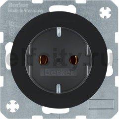 Штепсельная розетка SCHUKO, R.1/R.3, цвет: черный