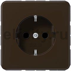 Розетка с заземляющими контактами 16 А / 250 В, автоматические зажимы, коричневый
