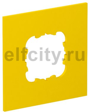 Накладка блока питания VH для монтажа устройств, 95x95 мм (желтый)