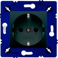 Розетка с заземляющими контактами 16 А / 250 В с защитой от детей, черный