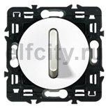 Выключатель, переключатель одноклавишный, бесшумный, (вкл/выкл с 1-го и 2-х мест) 6 A / 250 B, белый
