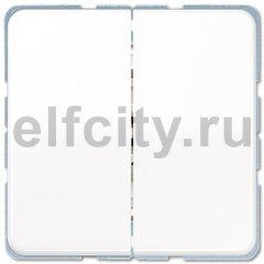 Выключатель двухклавишный, 10 А / 250 В, белый