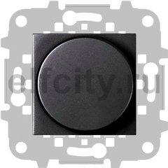 Диммер (светорегулятор) поворотно-нажимной 60-500 Вт для ламп накаливания и галогенных 220В, антрацит