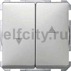 Выключатель управления жалюзи кнопочный, 10 А / 250 В, нержавеющая сталь