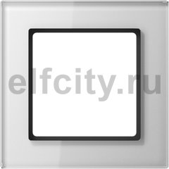 Рамка 1 пост, белое стекло