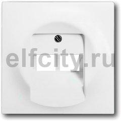 Плата центральная (накладка) для 2-постовой телекоммуникационной розетки 0214, 0215, 0217, 0218, с полем для надписи, серия impuls, цвет белый бархат