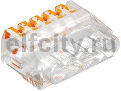 Клемма OBO универсальная пружинная c зажимом 5x2,5mm2 прозрачная