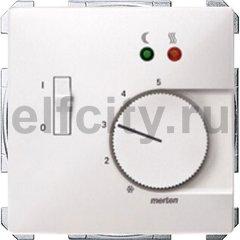 Термостат 230 В~ 8А с выносным датчиком , для электрического подогрева пола, пластик белый глянцевый